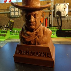 Picture of print of John Wayne Bust