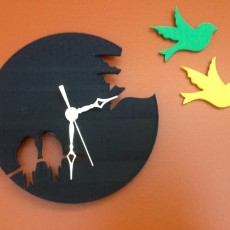 Picture of print of Silhouette Style Bird Clock
