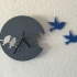Silhouette Style Bird Clock print image