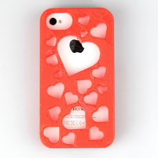 Iphone 4 Hearts Backcover