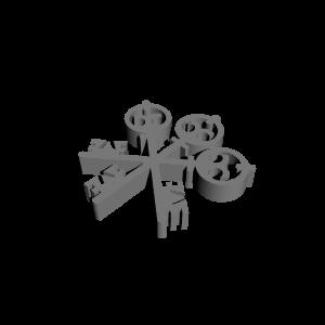 3D Printable UBS Logo by 3DRegan