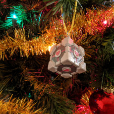 Picture of print of Portal 1 - Weighted Companion Cube Ornament