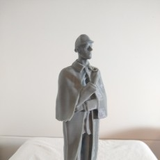 Picture of print of Sherlock Holmes Statue at Baker Street, London