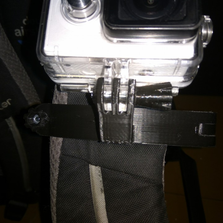 Picture of print of GoPro bag strap mount This print has been uploaded by Yury MonZon
