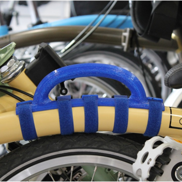 Folding bicycle carry Handle