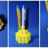 Desktop Honeycomb Style Pen Holder print image