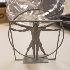 Picture of print of The Vitruvian Man Sculpture at Belgrave Square, London