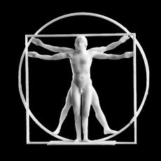 The Vitruvian Man Sculpture at Belgrave Square, London