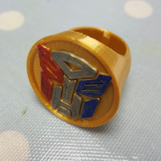 Picture of print of Transformers Ring Set