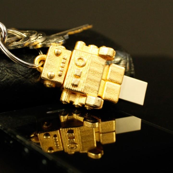 Bling USB Robot by Dr. Fluff