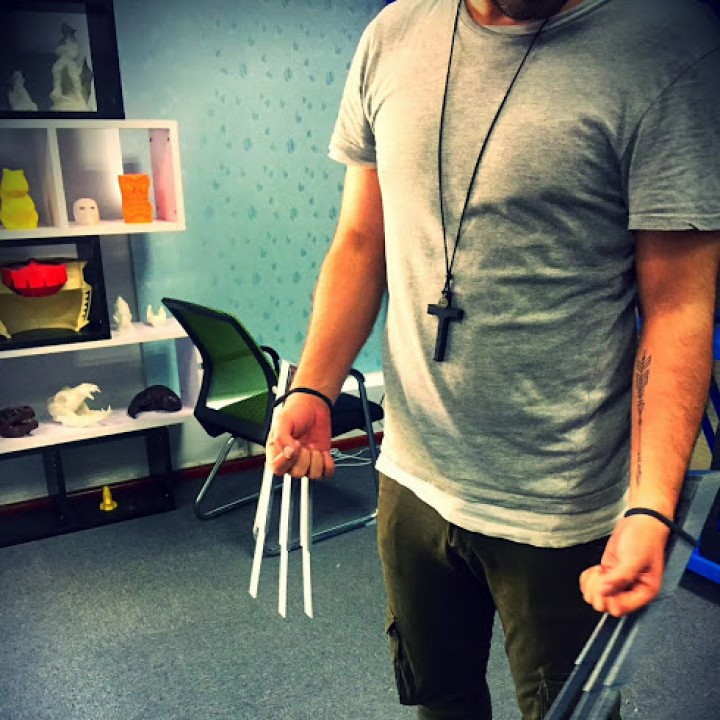 Picture of print of Wolverine Wearable Claws This print has been uploaded by Wanhao 3D Printers