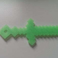 Picture of print of 5x Minecraft keyring tools