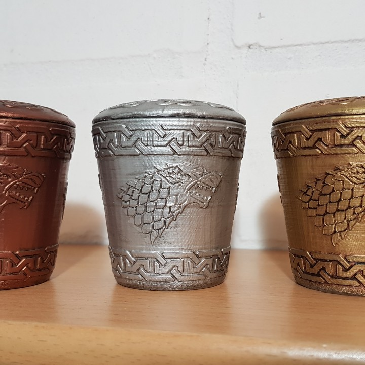 Picture of print of GOT Stark Dice Cup This print has been uploaded by Daniel Greve