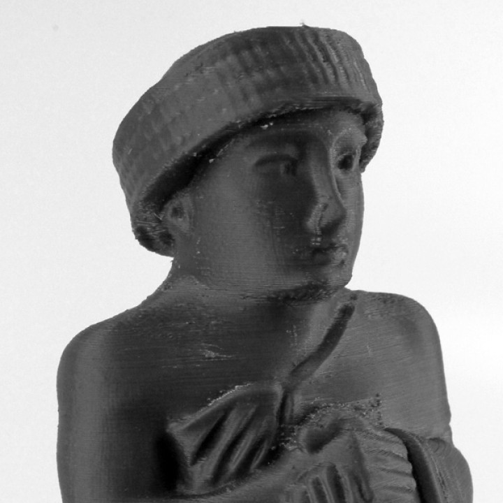 Statue of Gudea at MET, New York