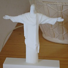 Picture of print of Christ the Redeemer in Rio de Janeiro, Brazil
