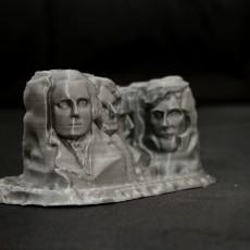 Picture of print of Mount Rushmore National Memorial in South Dakota, USA