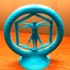 Spinning Vitruvian man print image