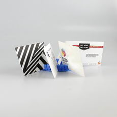 Circular business card holder