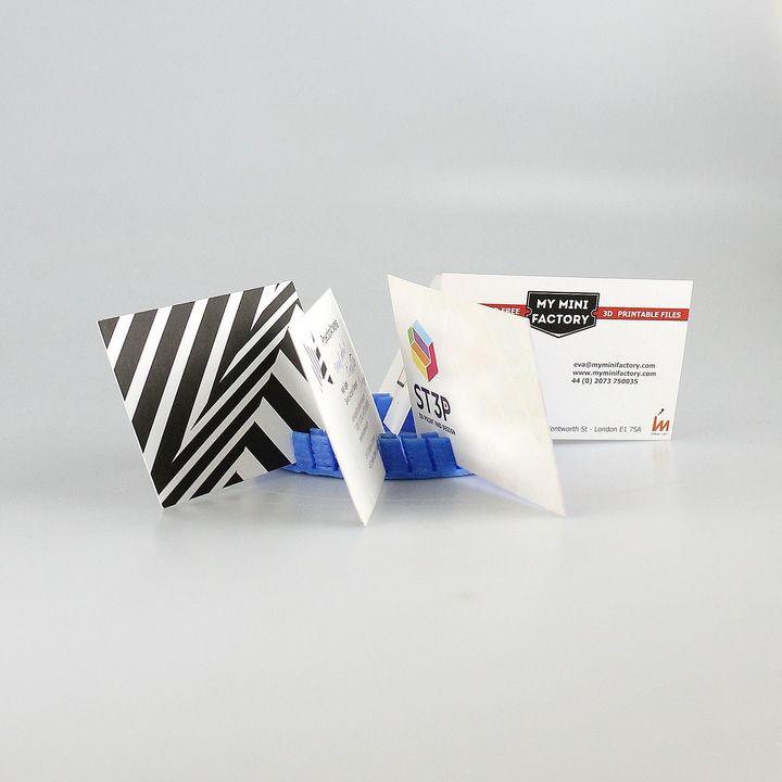 Download circular business card holder da mateusz sidorowicz circular business card holder image reheart Images
