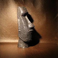 Picture of print of Moai Head on Easter Island