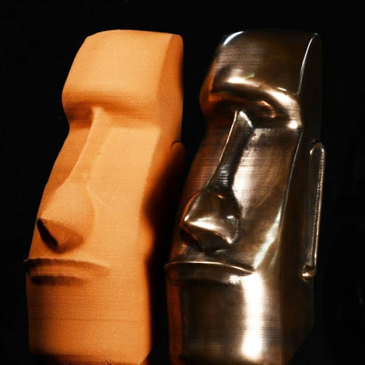 Picture of print of Moai Head on Easter Island This print has been uploaded by The Virtual Foundry