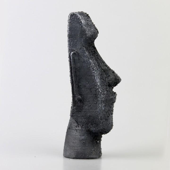 Moai Head on Easter Island