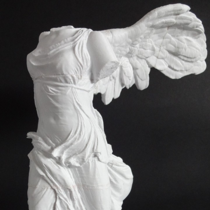 Picture of print of Winged Victory of Samothrace at The Louvre, Paris This print has been uploaded by Heck Jeck