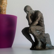 Picture of print of The Thinker at the Musée Rodin, France This print has been uploaded by makereal