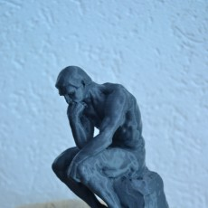 Picture of print of The Thinker at the Musée Rodin, France This print has been uploaded by Jordy Weening