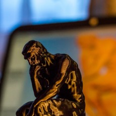 Picture of print of The Thinker at the Musée Rodin, France This print has been uploaded by Frank