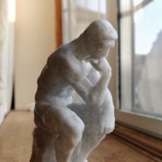 Picture of print of The Thinker at the Musée Rodin, France