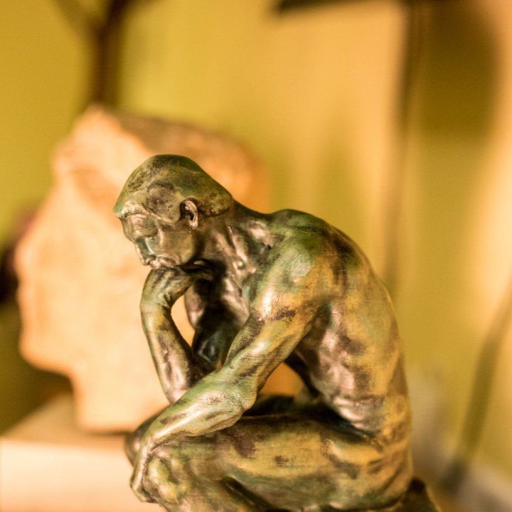 Picture of print of The Thinker at the Musée Rodin, France Questa stampa è stata caricata da Panayiotis Kyriakou