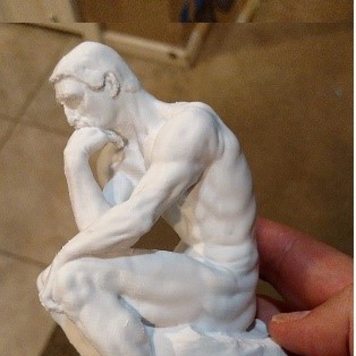 Picture of print of The Thinker at the Musée Rodin, France Questa stampa è stata caricata da Jeff Tucker