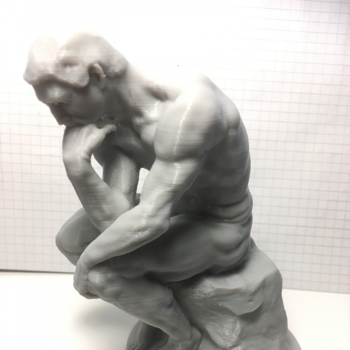Picture of print of The Thinker at the Musée Rodin, France Questa stampa è stata caricata da David Klem