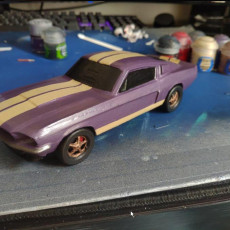 Picture of print of 1967 Shelby Mustang