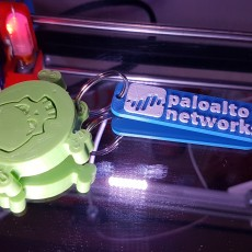 Picture of print of Palo Alto Networks Flashlight Keychain