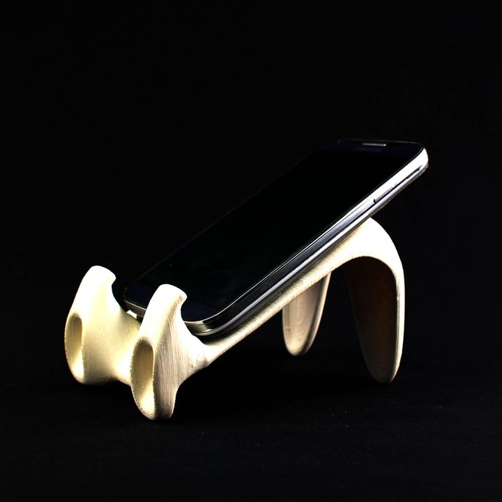 Download Cell Phone Caddy with Sound Channels von Spectra3D