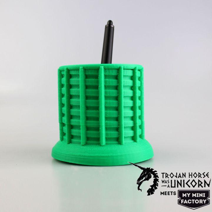 Ringed wacom pen holder