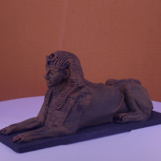 Picture of print of Sphinx at Cleopatra's Needle, Embankment, London