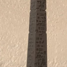 Picture of print of Cleopatra's Needle at Embankment, London