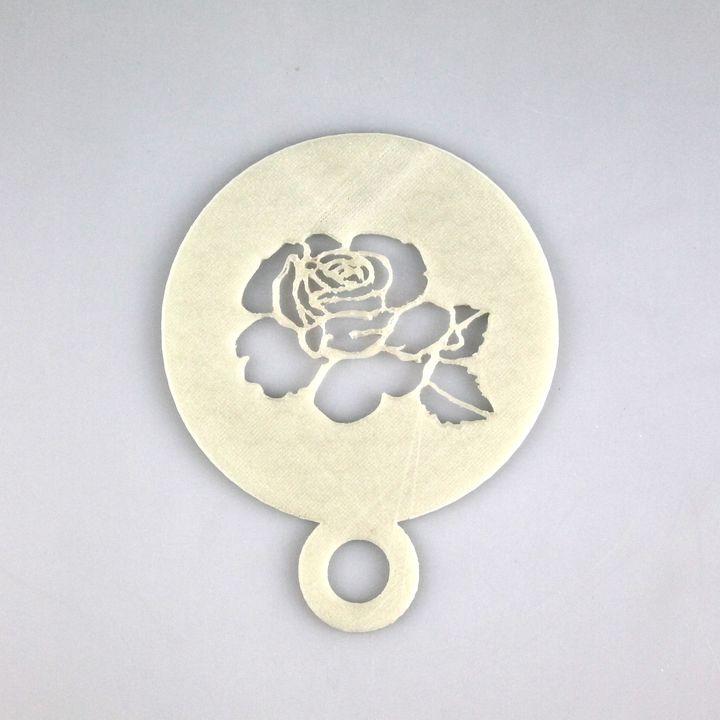 Rose Coffee Stencil