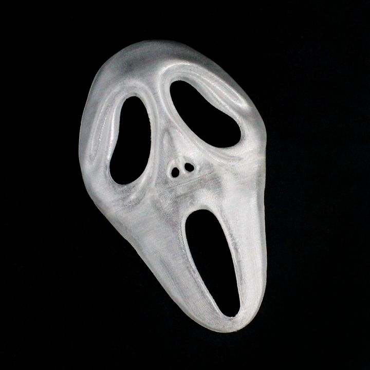 graphic about Printable Ghost Face identify 3D Printable Scream / Ghost Deal with Mask (Finish Dimension) by way of Ben Martin
