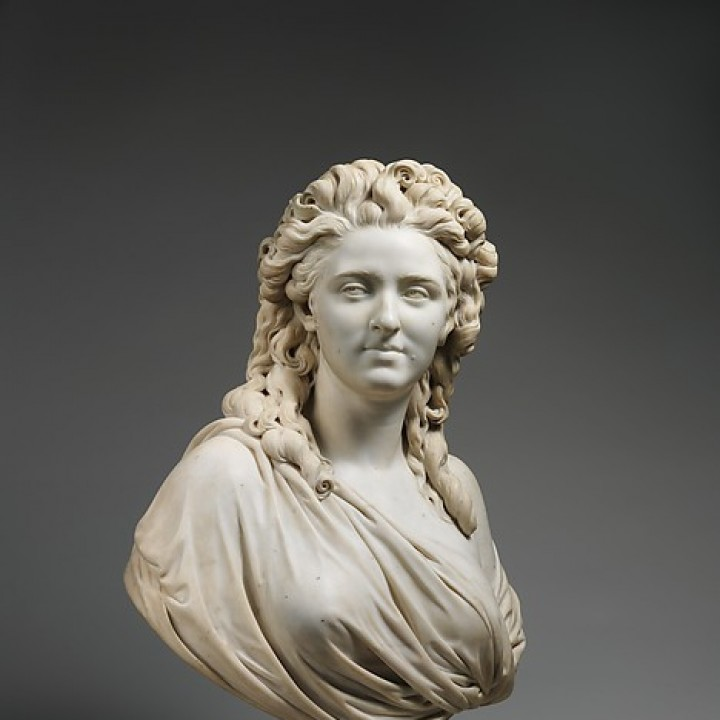 Bust of Madame De Wailly at the MET, New York