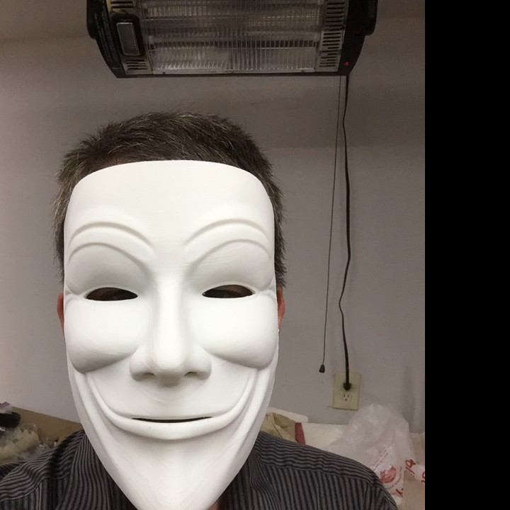 Picture of print of Anonymous Mask (Full Size) This print has been uploaded by MT