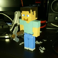 Picture of print of Articulated Steve from Minecraft