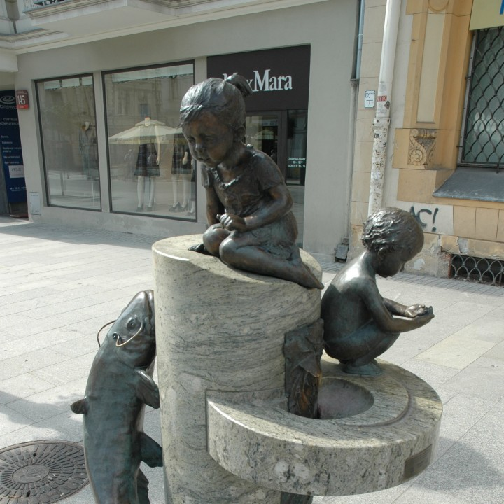 Fountain in Lodz, Poland