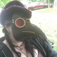 Picture of print of plague mask- Full Scale