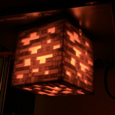 Picture of print of Colour Changing Minecraft cube