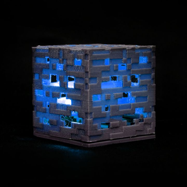 Colour Changing Minecraft cube