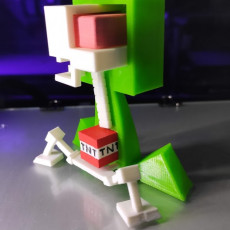 Picture of print of Creeper Anatomy from Minecraft